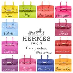 e are some standard Hermes colors and how it looks on the Birkin. I've taken these pictures from various sources and complied them for easy reference. Sac Birkin Hermes, Hermes Bags, Hermes Handbags, Fashion Handbags, Fashion Bags, Luxury Bags, Luxury Handbags, My Bags, Purses And Bags