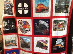 Tshirt/ Memory Quilt with sashing by SweetonStitchesEtsy on Etsy, $225.00
