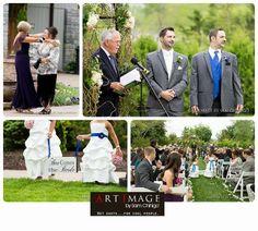 Wedding Ceremony at Farmington Gardens