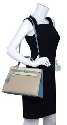 Hermes Blue Atoll Togo Kelly 32cm | Hermes, Vintage Tops and ...