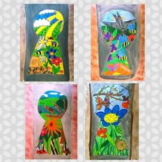 Look out through the keyhole - kunstunterricht - Spring Art, Summer Art, Spring Crafts, Art For Kids, Crafts For Kids, Arts And Crafts, Kid Art, Ecole Art, School Art Projects