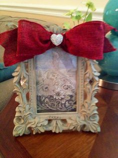 Picture Frame I dressed for a friend's engagement.
