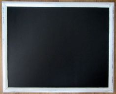 large white silver distressed framed chalkboard blackboard - White Framed Chalkboard