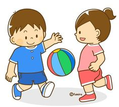 Let's play ball. Let's play ball. 4 Kids, Diy For Kids, Children, Kids Education, Special Education, Cartoon Kids, Clipart, Kids Playing, Cute Pictures