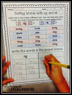 Teaching With Love and Laughter: Word Sorts