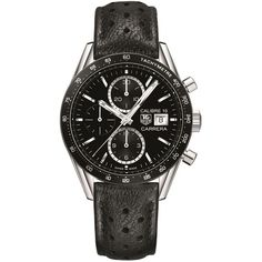 Tag Heuer Carrera Calibre 16 Automatic Chronograph Watch (238.140 RUB) ❤ liked on Polyvore featuring men's fashion, men's jewelry, men's watches, tag heuer men's watches, mens chronograph watches, mens diamond bezel watches and mens blue dial watches