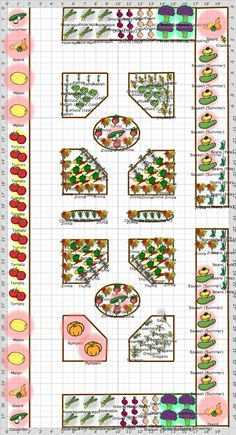 Garden Plan - 2013: Potager Revised This plan could easily be adapted for high country gardens