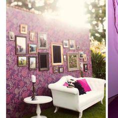 Cute diy photobooth wall