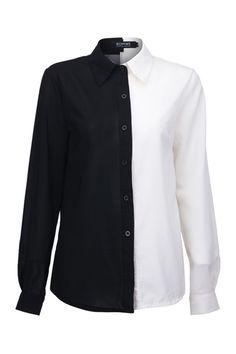 Julirtte Lapel Neck Black Shirt  $28.99  romwe.com  #romwe #ROMWE