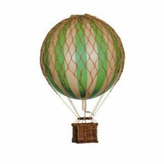 Amazon.com: Authentic Models Floating the Skies Hot Air Balloon Replica, Color: True Green: Home & Kitchen