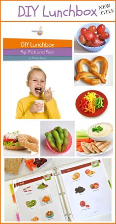 Printable book of healthy foods in each of the Food Plate categories so your child can pack his/her own lunch!