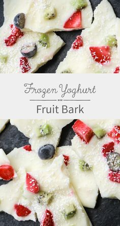 This Frozen Yogurt Fruit Bark is a yummy treat for your kids.They are perfect for summer and they make a healthy alternative to ice cream!