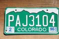 Colorado License Plate Number PAJ3104    #CoLicensePlate #RockyMountains #VintageCoPlate #GreenAndWhite #PAJ3104 #ColoLicensePlate #CoPlatePaj3104 #LicensePlate #ColoradoPaj3104 #VintageColorado