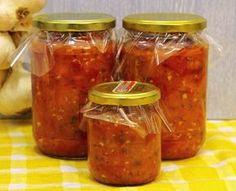 Jam Recipes, Salad Recipes, Cooking Recipes, Ruska Salata, Posna Predjela, Canning Jars, Garlic Bread, Bread Baking, Bon Appetit