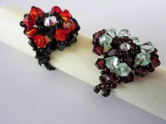Beaded Ring SW bicones. Кольцо из бисера и кристаллов - YouTube
