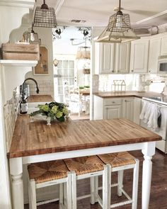 """5,334 Likes, 148 Comments - Terri Simply French Market (@simplyfrenchmarket) on Instagram: """"Happy Thursday  I get asked a lot about my butcher block countertops. We put them in ourselves 11…"""""""