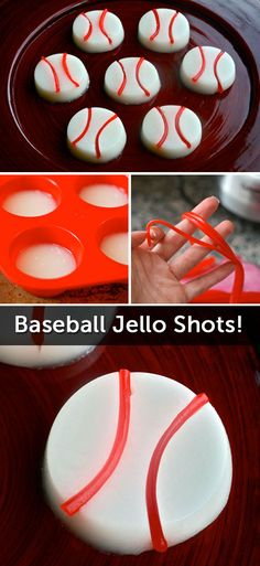 Hit a Home Run with these Baseball Jello Shots! (And yes, Pull N' Peel Twizzlers are involved.)