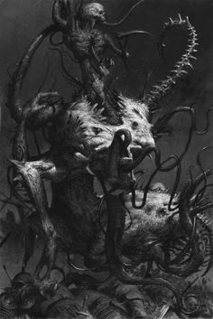 Potential horror thing ArtStation - art for games workshop publication 'warriors of chaos'- spawn, adrian smith Dark Fantasy Art, Fantasy Kunst, Warhammer Fantasy, Warhammer 40k, Arte Horror, Horror Art, Dark Creatures, Fantasy Creatures, Mythical Creatures