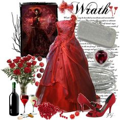 """""""7 Deadly Sins Series : WRATH"""" by tynz on Polyvore"""