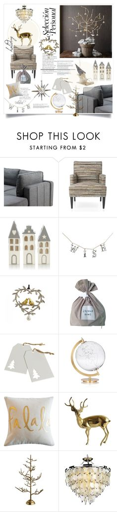 """wɪʃ"" by riza-villareal ❤ liked on Polyvore featuring interior, interiors, interior design, home, home decor, interior decorating, Dot & Bo, SecondoMe and Glow Lighting"