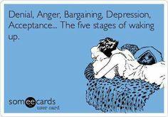 Denial, Anger, Bargaining, Depression, Acceptance