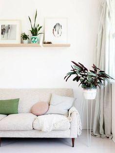 beige + pastel living room
