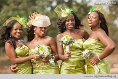 Nigerian Wedding: Beautiful Headpieces For Your Bridesmaids |