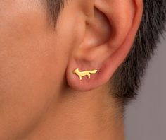 Sneaky fox studs you can get in shiny or matte white, rose, or yellow gold. | 29 Dainty Pieces Of Jewelry That Are Worth The Investment