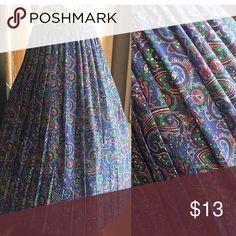 Vintage Pleated skirt Vintage Purple Paisley print Pleated SKIRT! ✨Really  NICE✨ Size: Med-XL (stretches) Price:$13.50 Vintage Skirts Midi