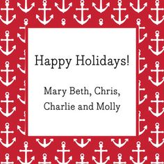 Red Anchors Check Gift Stickers