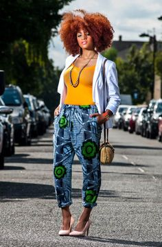 African print trousers on Zanjoo by Jekkah
