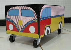 caixa de brinquedos feita com caixa de som