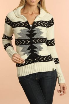 Jacquard Sweater In Off White