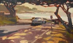Carmel by the Sea California, coastal, plein air painting by Robin Weiss, painting by artist Robin Weiss
