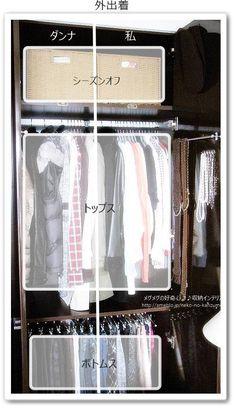 衣類の断捨離と、クローゼットの収納見直し  メグメグの好奇心♪♪ 収納インテリア