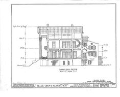 HABS LA,24-WHICA.V,1- (sheet 8 of 36) - Belle Grove, White Castle, Iberville Parish, LA
