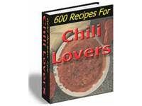 600 Chili Recipes. Download free at TubaLoad.com If you compete in chili competitions then you probably don't need a chili cookbook, if you don't then you need at least one good chili cookbook. 600 Recipes For Chili Lovers is a good one to have.