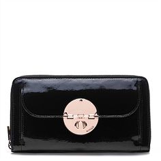 Unique Bags, Accessories & Shoes For Women Mimco Pouch, Purse Wallet, Leather Purses, Leather Wallet, Wallets For Women Leather, Unique Bags, Womens Purses, Black Patent Leather, Things To Buy