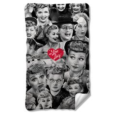I Love Lucy Faces Fleece Blanket