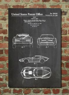 Wall Art Poster    This patent poster is printed on 90 lb. Cardstock paper. Choose between several paper styles and multiple sizes. These are