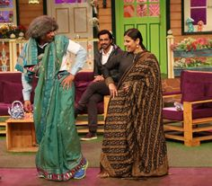 Vidya Balan does some dance moves with Sunil Grover aka Dr. Gulati on Kapil Sharma's show.