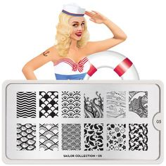 Yo-ho-ho and a bottle o'polish! It's the Sailor Nail Stamping Plate collection from MoYou London.
