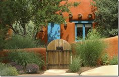 adobe and turquoise exterior doors - Google Search