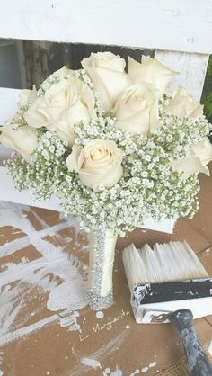 TOTALLY WHITE AND LIGHT POINTS ✅ bouquet sposa