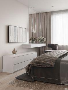 Modern bedroom design.