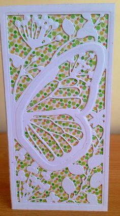 Card using Mariposa die