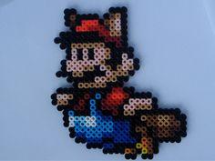Raccoon Mario from Super Mario Bros 3 Perler Bead Magnet. $7.00, via Etsy.