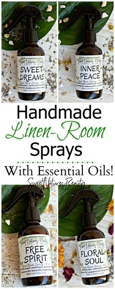 These homemade linen sprays have essential oils and are all natural! The best aromatherapy out there.