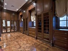 The glass enclosed part of this closet is where Michael's military jackets were found.