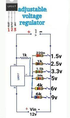 Basic Electronic Circuits, Electronic Circuit Design, Electronic Schematics, Electronic Engineering, Electrical Engineering, Electronics Mini Projects, Hobby Electronics, Electrical Projects, Electronics Components